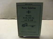 International Truck Models D-30, DS-30, D-30B  parts catalog MT-37-A