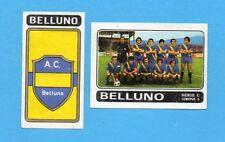 FIGURINA PANINI 1972/73-n.486- BELLUNO - SQUADRA+STEMMA/SCUDETTO -Rec