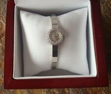 Nice Ladies Solid 14K White Gold / Diamond Omega Watch, 14K WG Band *REDUCED*