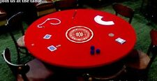 "VELVET Poker Table cover - Best upgrade for felt 60"" ROUND -  free ship"