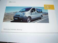 Manual de instrucciones Opel Vivaro, edición 01/2005 (nuevo) #bavi 0105