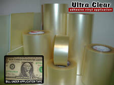 40 sheets 4x12 Ultra Clear Transfer Tape for Vinyl Application High Tack AT-65