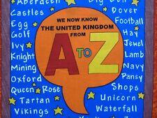 A to Z Book PANEL United Kingdom Britannia Alphabet Fabric Craft Sewing Quilting