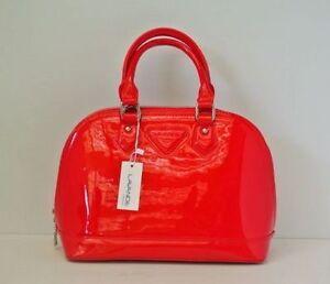 Fashion Women Handbag Satchel Shoulder Hobo Tote patent red Bag Shell Shape