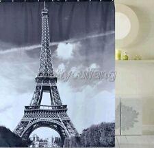 Paris Eiffel Tower Pattern Design Bathroom Fabric Shower Curtain Ps270