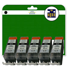 5 C520 Black Ink Cartridges for Canon Pixma MP540 MP550 MP560 MP620 non-OEM