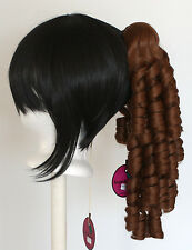18'' Ringlet Curly Pony Tail Clip Auburn Brown Cosplay Lolita Wig Clip Only NEW