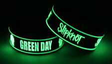 GREEN DAY SLIPKNOT G7S7 NEW! 2x Bracelet Wristband Glow in the Dark