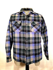 Vintage Pendleton 100% Wool Plaid Button Up Shirt Mens Size M Made in USA