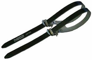 MKS Fit Alpha Spirits double toe straps, black - pair