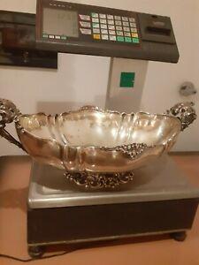 centrotavola in argento 800 punzoni fascio