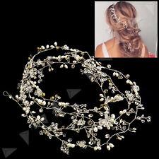 Pearls Wedding Hair Vine Crystal Bridal Accessories Diamante Headpiece Jewelrys
