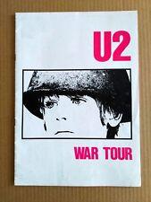 U2  Original WAR TOUR PROGRAMME UK 1983, SUPER RARE