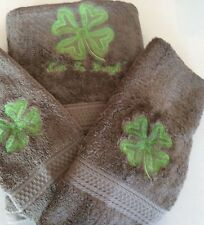 Shamrock Embroidered 6 piece Bath Towel Set