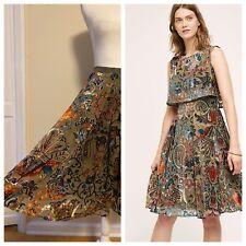 Stunning Anthropologie EVA FRANCO Gardenza Skirt~Burn-Out Velvet~Size 4 / Small