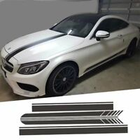 4 Pcs High Quality Body Decal Sticker Full Set for Mercedes Benz C E S CLA Class