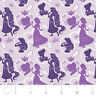Disney Princess Shadow Silhouette Purple Camelot 100% cotton fabric by the yard