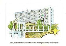 Vienna Austria Postcard Vintage Hotel InterContinental Posted Advertising