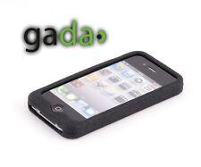 Hülle f Apple iPhone 4S 4 4G SILIKON TOP Case Tasche Cover Schutz Bumper SCHWARZ