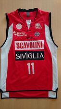 Camiseta baloncesto maglia jersey basketball Andre Collins match worn Pesaro