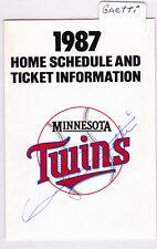 1987 Gary Gaetti Autograph Minnesota Twins Home Schedule Super America AUTO