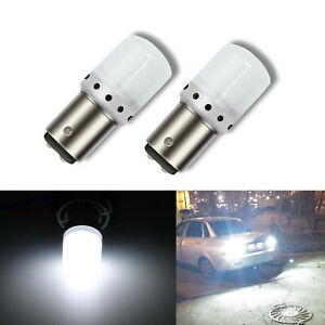 2x Bright 1157 6000K White LED Bulbs 9-SMD Back up Reverse Light for Acura CL
