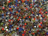 Beads, Star Table Cut Beads czech glass 8mm beads  1/2 lbs b507 mix