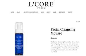 L'core Paris Facial Cleansing Mousse