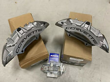 New GM OEM Brembo 2009-13 Chevy Corvette ZR1 Front 6 Piston Brake Calipers + Pin