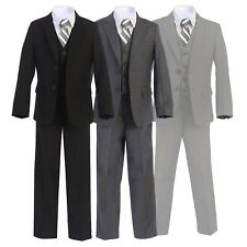 Boltini Italy Kids - Boys Formal 5PC Suit Set: Jacket, Shirt, Tie, Vest, Pants
