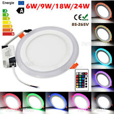 Blanca Luz LED RGB Color dual LED Lámpara de techo empotrada en el panel Downlight Spot