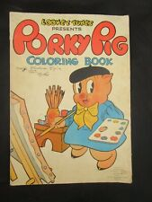 Very Rare 1938 Over-Sized Looney Tunes Porky Pig Coloring Book (Good Condition)