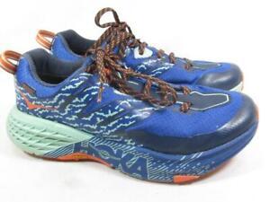 Hoka One One Speedgoat Waterproof Running Shoe Women size 6.5 Blue