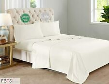 FBTS Basic Sheet Sets Cotton Microfiber Interwoven (Queen, White) Luxury Fitted