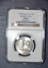 Malaysia, 50 sen, 1969 (RARE) NGC MS 65