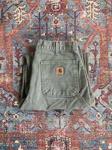 Vintage Carhartt Pants Moss Green 33/32 B11-MOS