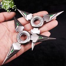 2pcs Overwatch Genji Shuriken Hand Spinner EDC Metal Fidget Rotate Cosplay Toy