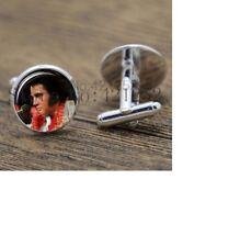 Colour Aloha Elvis Cufflinks Silver