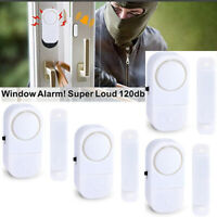 4X Wireless Anti-Theft Door Window Entry Alarm 120 dB with Batteries Included