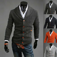 Premium Men Fashion Slim Stylish Fit V-neck Cardigan Knitted Sweater Jumper Top