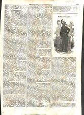 Le sapeur-pompier costume uniforme de service grande tenue incendie GRAVURE 1843
