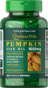 Puritan's Pride Pumpkin Seed Oil 1000 mg - 100 Softgels