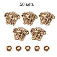 50 Sets /Bag Rivets Rapid Studs DIY Bags,Leather Bracelets, Clothes, Shoes