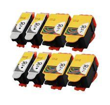 8PK INK CARTRIDGE FOR KODAK 30 XL ESP C100 C110 C115 C300 C310 HERO 3.1 5.1