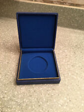 German medal box presentation award case BLUE