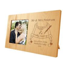 Incisi primo anniversario di matrimonio regalo cornice in legno 1st (carta) presenti
