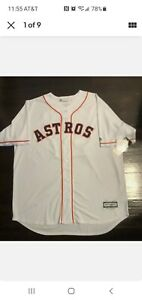 🔥HOUSTON ASTROS SIGNED JOSE ALTUVE MLB MAJESTIC Jersey. JSA .Certified