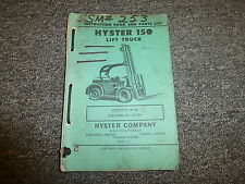 Hyster RT150 Forlift Lift Truck Parts Catalog & Owner Operator Manual S/N RT793-