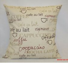 "2 x modern Cushion covers,""Cappuccino"" 100% cotton,16""x16"""