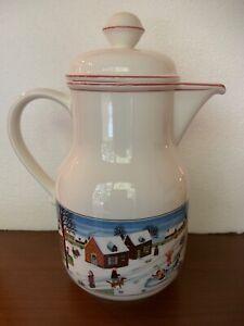 Villeroy & Boch NAIF CHRISTMAS Vitro Porcelain Coffee Tea Pot